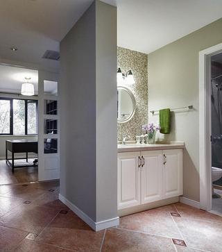 古朴美式风格家居隔断设计