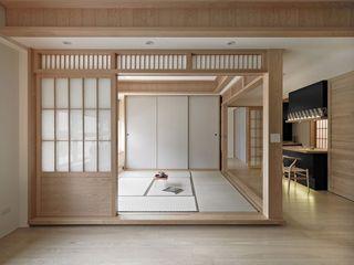 清新纯木日式风格两居室内隔断装潢欣赏图片
