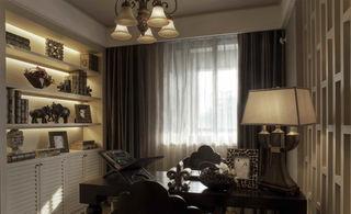 古朴与时尚相结合新古典书房装修图