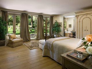 自然北欧风情卧室窗帘效果图
