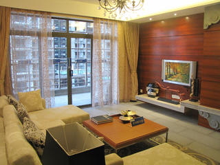 100平中式装修窗帘图片