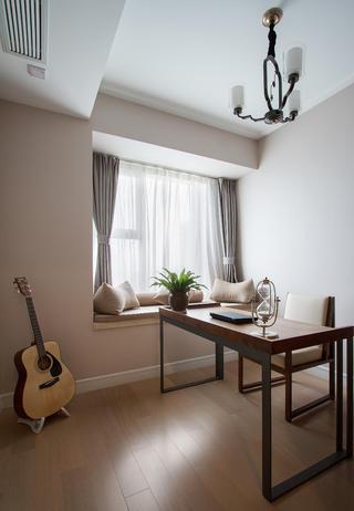 107平新中式三居装修飘窗图片