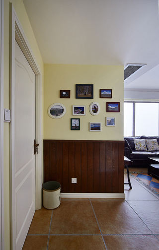 美式乡村风玄关照片墙设计