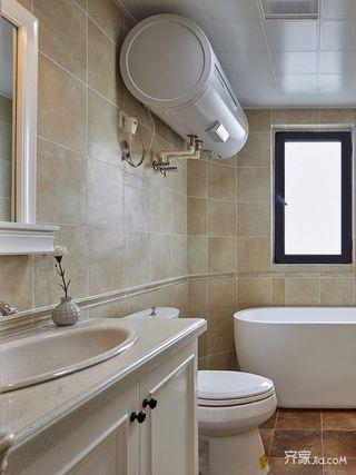 140平美式三居卫生间装修设计效果图