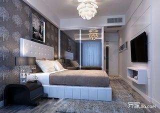 100平现代风格二居卧室装修效果图
