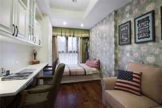 美式风格四房装修书桌图片