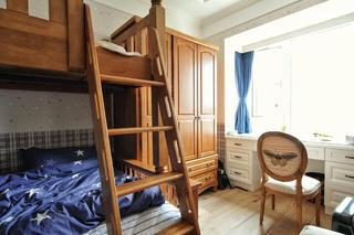 130平美式风格家儿童房设计图