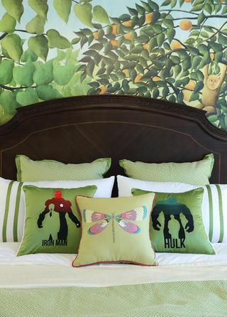 美式别墅装修抱枕图片