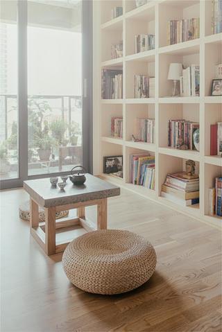 日式简约风装修书房茶台设计