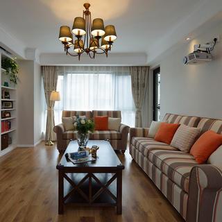 100㎡美式装修沙发设计效果图