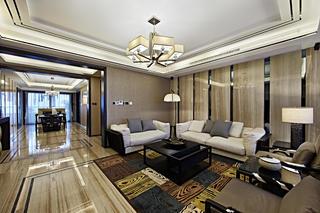 新中式三居装修沙发墙图片
