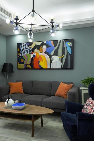 三居室现代风格家沙发图片