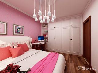 128平中式风格三居装修衣柜设计图