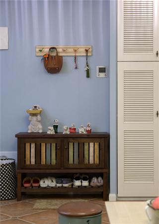 美式混搭风格二居室装修鞋柜设计图