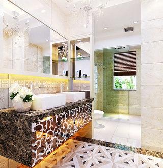 个性浴室柜效果图