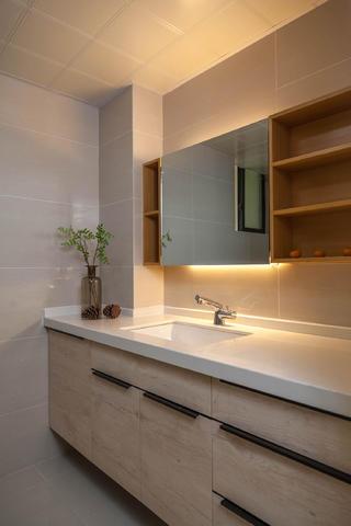 北欧风格三居之家浴室柜设计