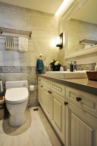 130平美式风格家浴室柜图片