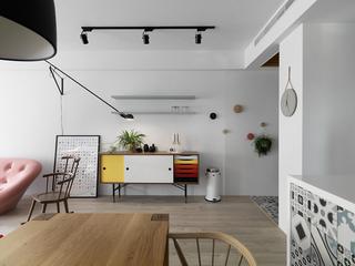 115㎡北欧风格三居装修玄关柜设计图