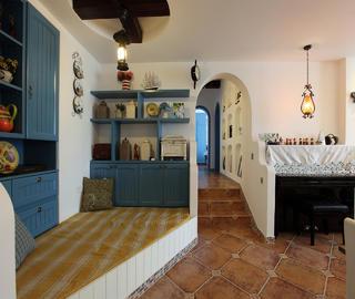 120平地中海三居装修储物架设计