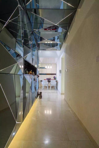 145平现代简约二居装修走廊设计