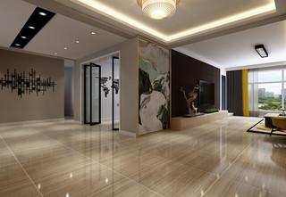 现代混搭风格客厅过道装修效果图