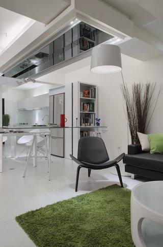 简洁现代家居室内地毯装饰图
