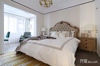 120㎡混搭三居室装修卧室设计图