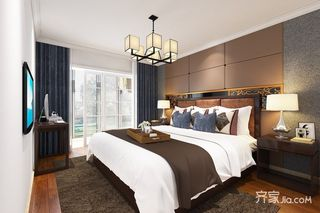 120㎡中式风格两居卧室装修效果图