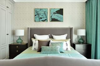 四居室现代美式装修床头软包