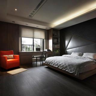 大户型现代简约装修卧室布置图