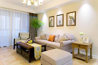 110㎡美式风格家沙发背景墙图片