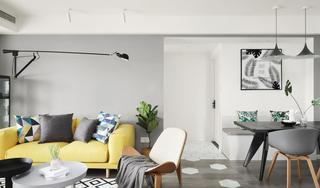 北欧风三居室沙发背景墙装修效果图