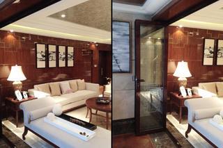大户型中式后现代装修沙发背景墙图片