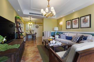 美式风格三居之家沙发背景墙图片