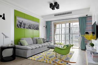 90平简约风装修沙发背景墙图片
