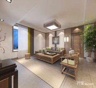 130㎡日式风格沙发背景墙装修效果图