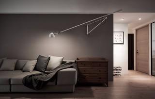 简约风格装修沙发背景墙壁灯设计