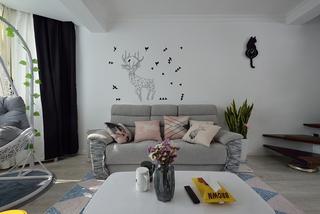宜家风格沙发背景墙装修效果图