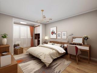 75㎡现代简约风格卧室装修效果图