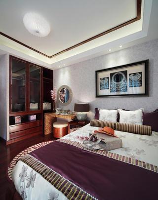 唯美时尚东南亚装修卧室背景墙欣赏