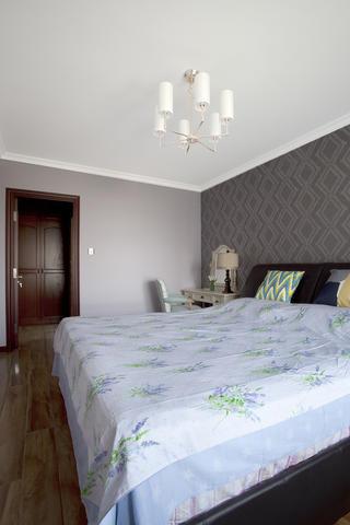 140㎡美式简约装修卧室背景墙图片