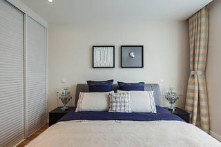 90㎡现代简约风格家卧室背景墙图片