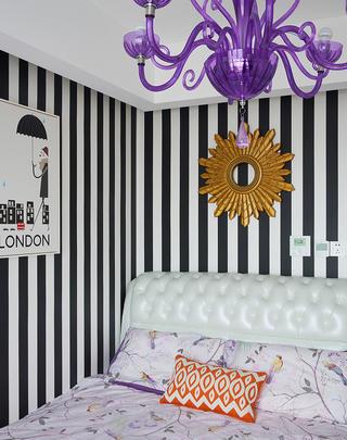 混搭二居装修卧室背景墙图片