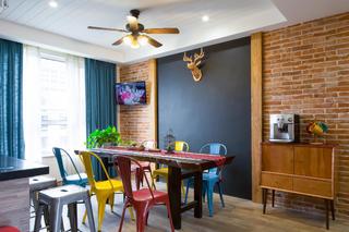 180平混搭装修餐厅背景墙图片