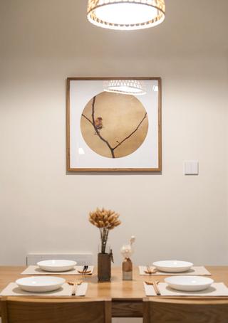 日式风格两居室装修餐厅背景墙图片