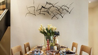 小户型北欧风两居室装修餐厅背景墙设计图