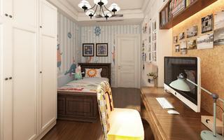 简约美式风格装修儿童房布置图