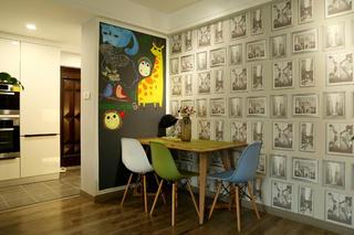 78平简约风格公寓装修餐厅设计图