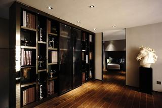 现代复式装修书架设计