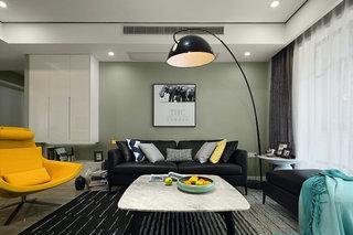 现代简约风格沙发背景墙装修效果图